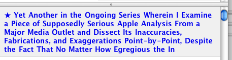 NetNewsWire says: 'Yet Another in the Ongoing Series Wherein I Examine a Piece of Supposedly Serious Apple Analysis From a Major Media Outlet and Dissect Its Inaccuracies, Fabrications, and Exaggerations Point-by-Point, Despite the Fact That No Matter How Egregious the In'