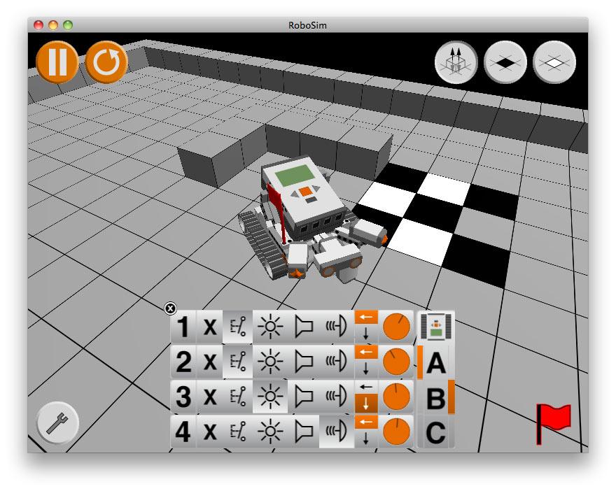 Virtueller Roboter in virtueller Umgebung